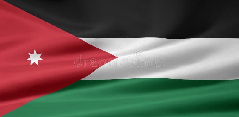 Flag of Jordan. Very large flag of Jordan stock illustration