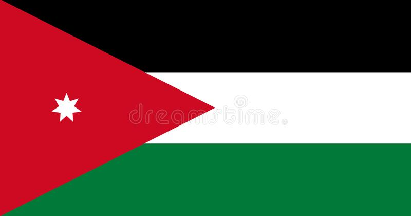 Flag of Jordan. Background or texture close-up royalty free illustration
