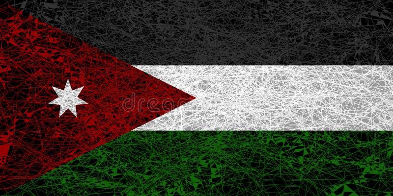 Flag of Jordan. Illustration in grunge style vector illustration