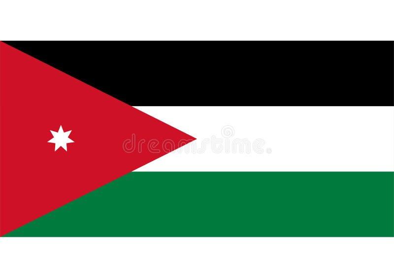 Flag of Jordan. Vector format ai aviable red white amaranto stripes middle east arabian stock illustration