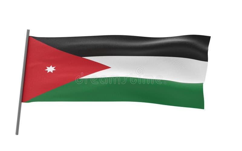 Flag of Jordan. Illustration of a waving flag of Jordan. 3d rendering vector illustration