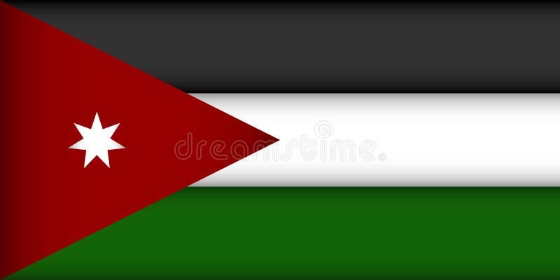 Flag of Jordan. Vector illustration. Patriotic background vector illustration