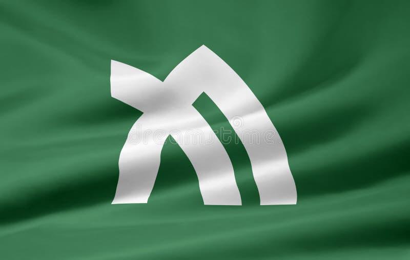 Flag of Kagawa - Japan stock images