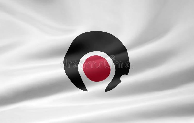 Flag of Kagoshima - Japan stock image
