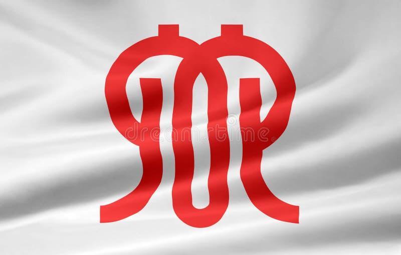 Flag of Kanagawa - Japan royalty free stock photography