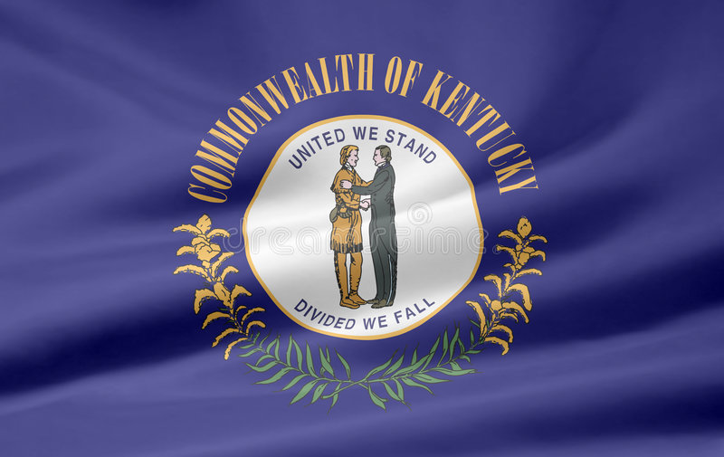 Download Flag of Kentucky stock illustration. Image of blue, north - 6243938