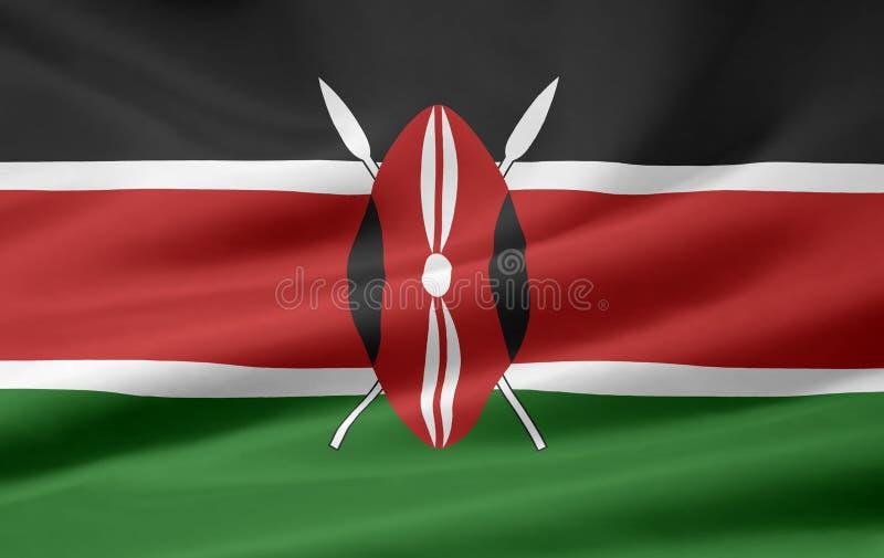 Flag of Kenya royalty free stock photography