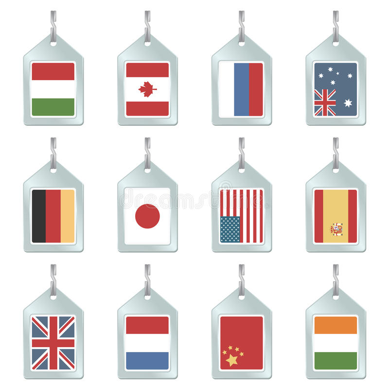 Download Flag key fobs stock vector. Illustration of italy, germany - 12584359