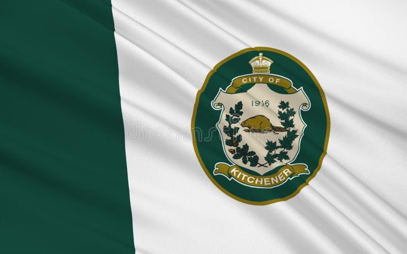Flag of Kitchener Ontario, Canada. Flag of City of Kitchener is a city in Southern Ontario, Canada stock photos