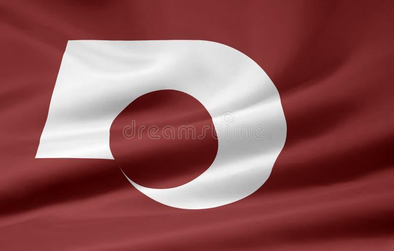 Flag Of Kumamoto - Japan Royalty Free Stock Images