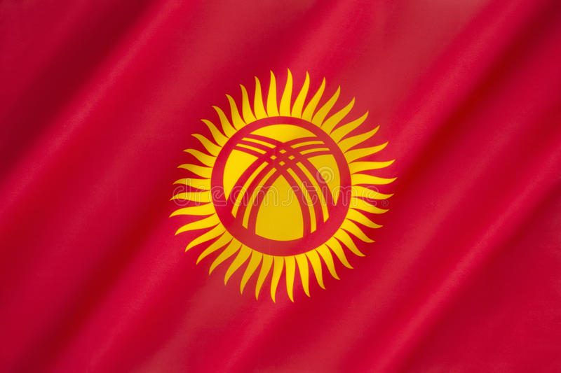 Flag of Kyrgyzstan stock images