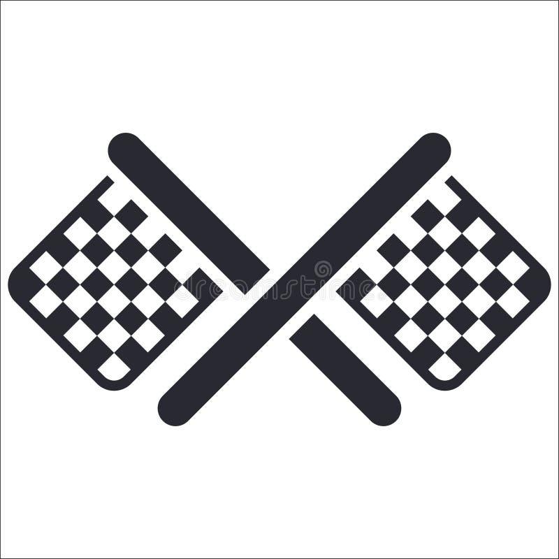 Flag lap icon royalty free illustration