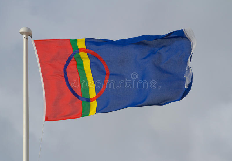 The flag of Lapland stock image