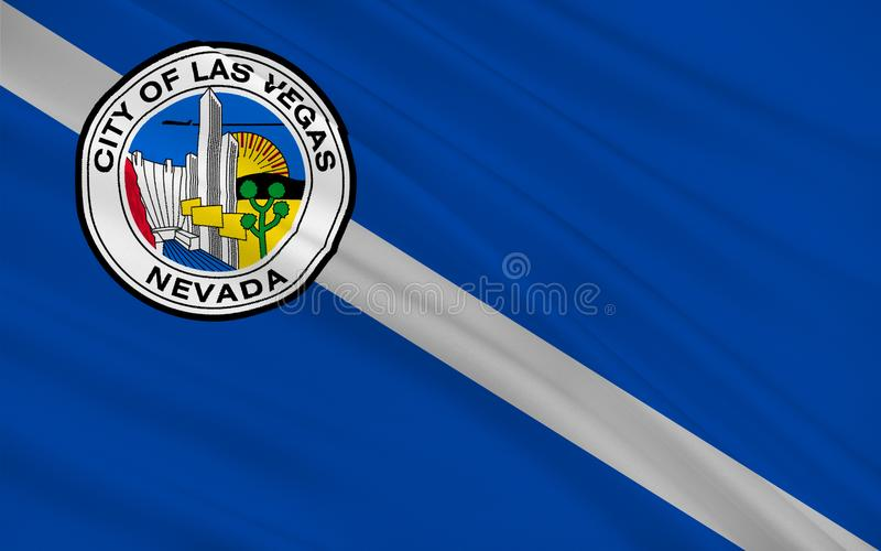 Flag of Las Vegas in Nevada, USA vector illustration