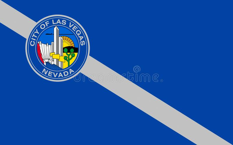Flag of Las Vegas in Nevada, USA stock photography