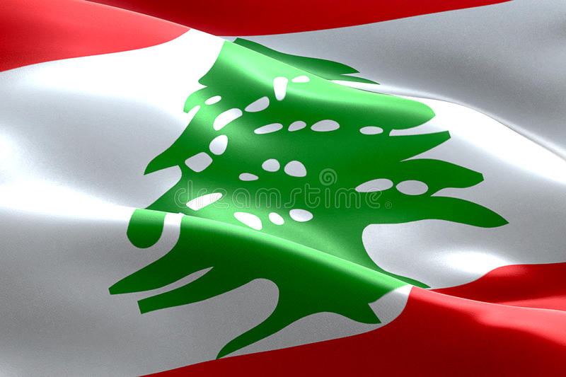Flag of lebanon strip waving texture fabric background, national symbol arabic islam culture. Concept royalty free stock images