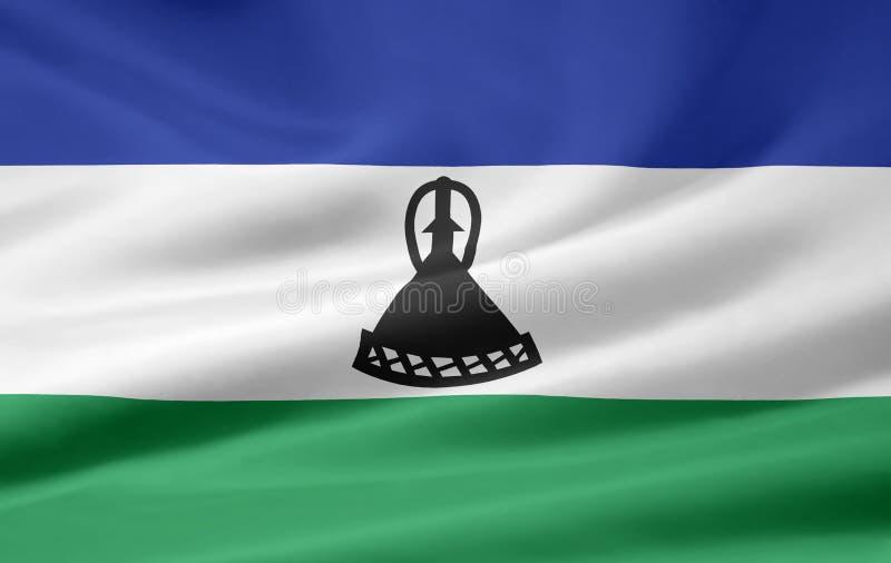 Flag of Lesotho royalty free stock photo
