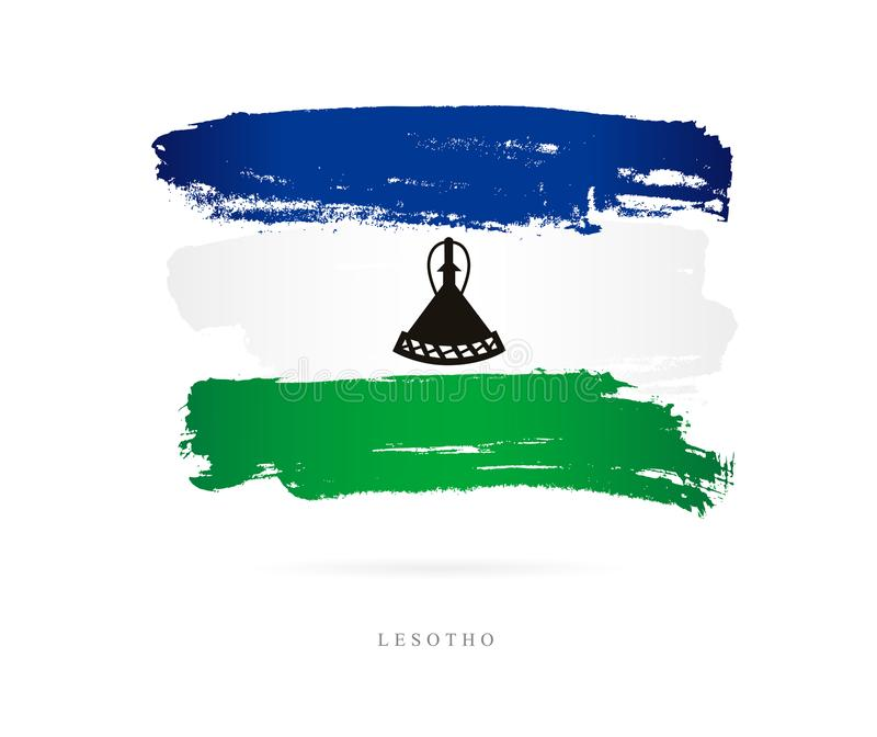Flag of Lesotho. Abstract concept stock illustration