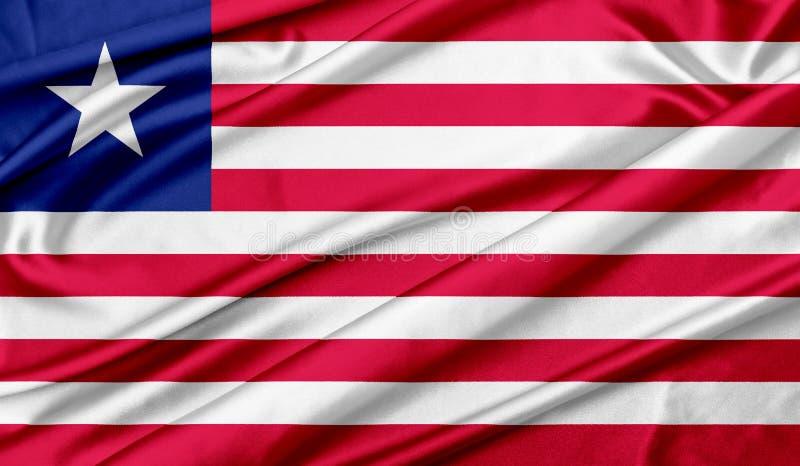 Flag of Liberia texture background stock photo