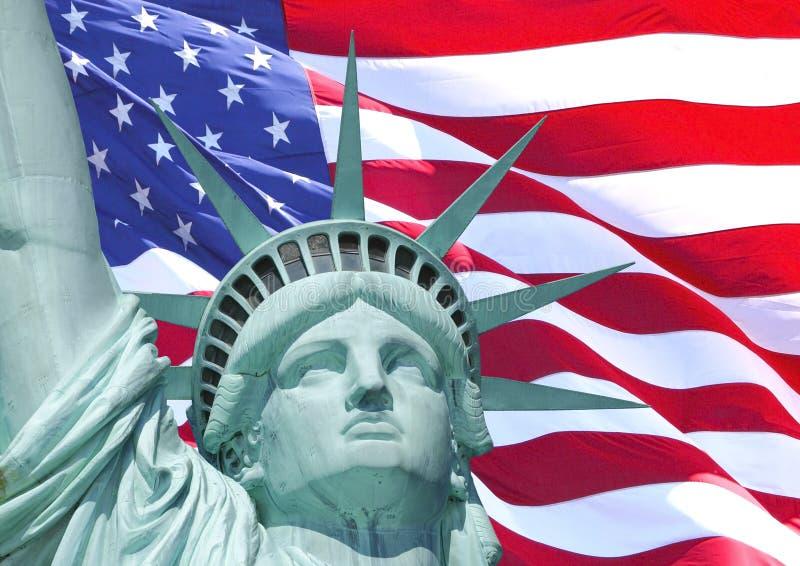 Flag of Liberty stock image