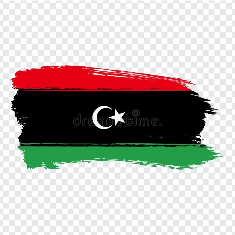 Flag Libya from brush strokes. Flag State of Libya on transparent background for your web site design, logo, app, UI. Stock vector.  EPS10 stock illustration