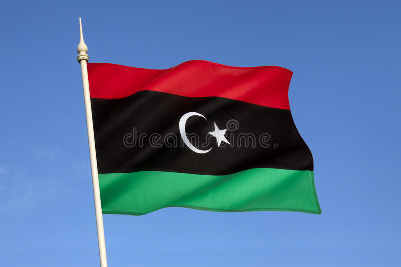 Flag Of Libya - North Africa Stock Photo