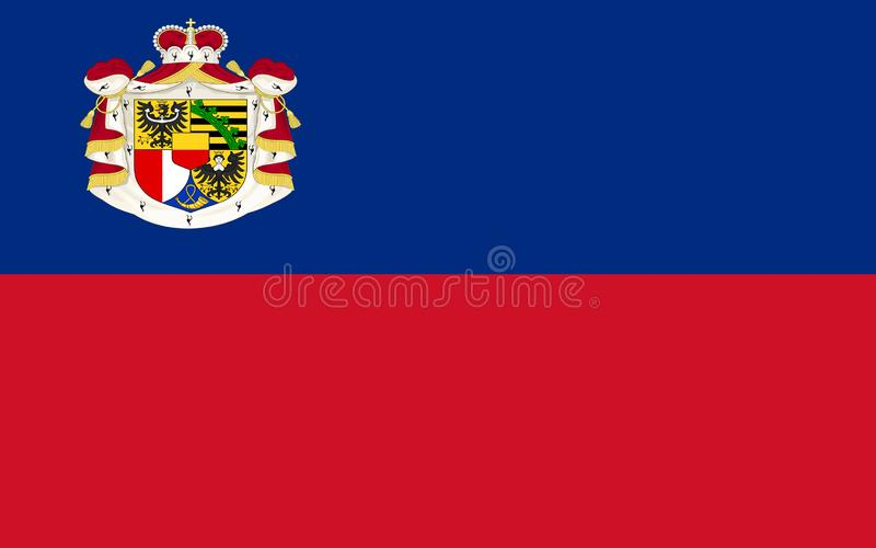 Flag of Liechtenstein stock illustration