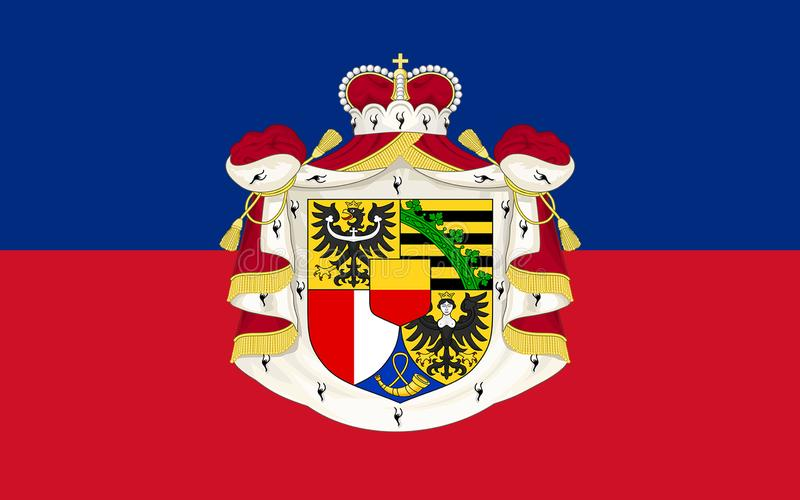 Flag of Liechtenstein vector illustration