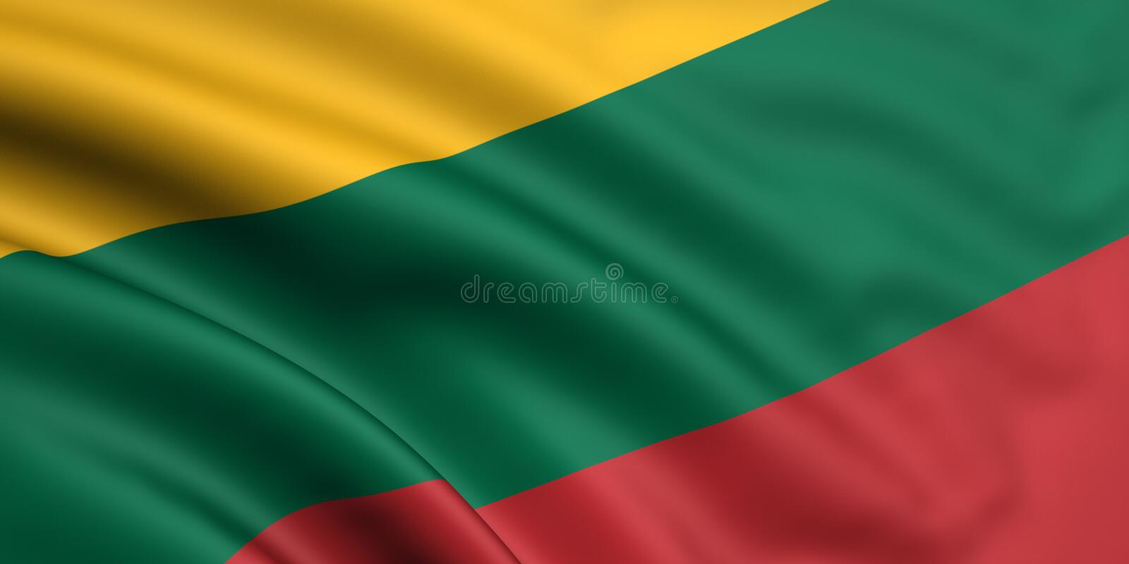 Download Flag Of Lithuania stock illustration. Image of lithuanian - 5254529