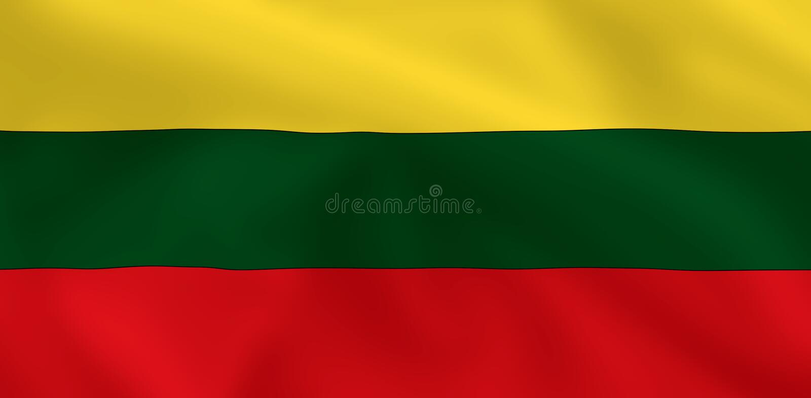 Flag of Lithuania royalty free illustration