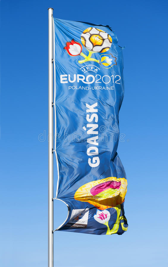 Download Flag With  Logo For UEFA EURO 2012 Editorial Image - Image: 24586475