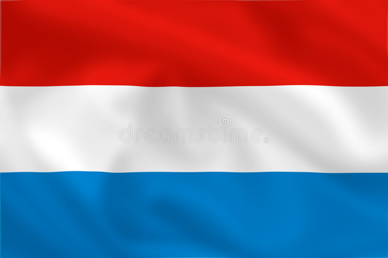 Flag of Luxembourg vector illustration