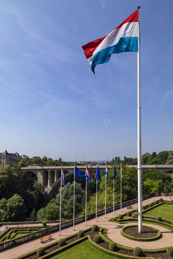 Flag of Luxembourg - Luxembourg City - Europe royalty free stock photos