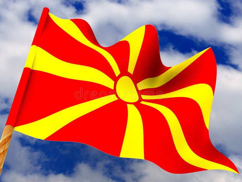 Download Flag. Macedonia Stock Images - Image: 6088264