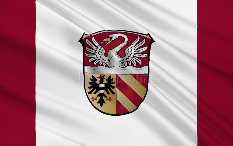 Flag of Main-Kinzig-Kreis in Hesse the land of Germany. Flag of Main-Kinzig-Kreis is a district in the east of Hesse, Germany. 3d illustration vector illustration