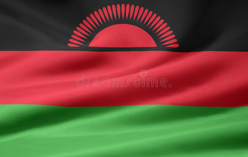 Flag of Malawi royalty free stock photo
