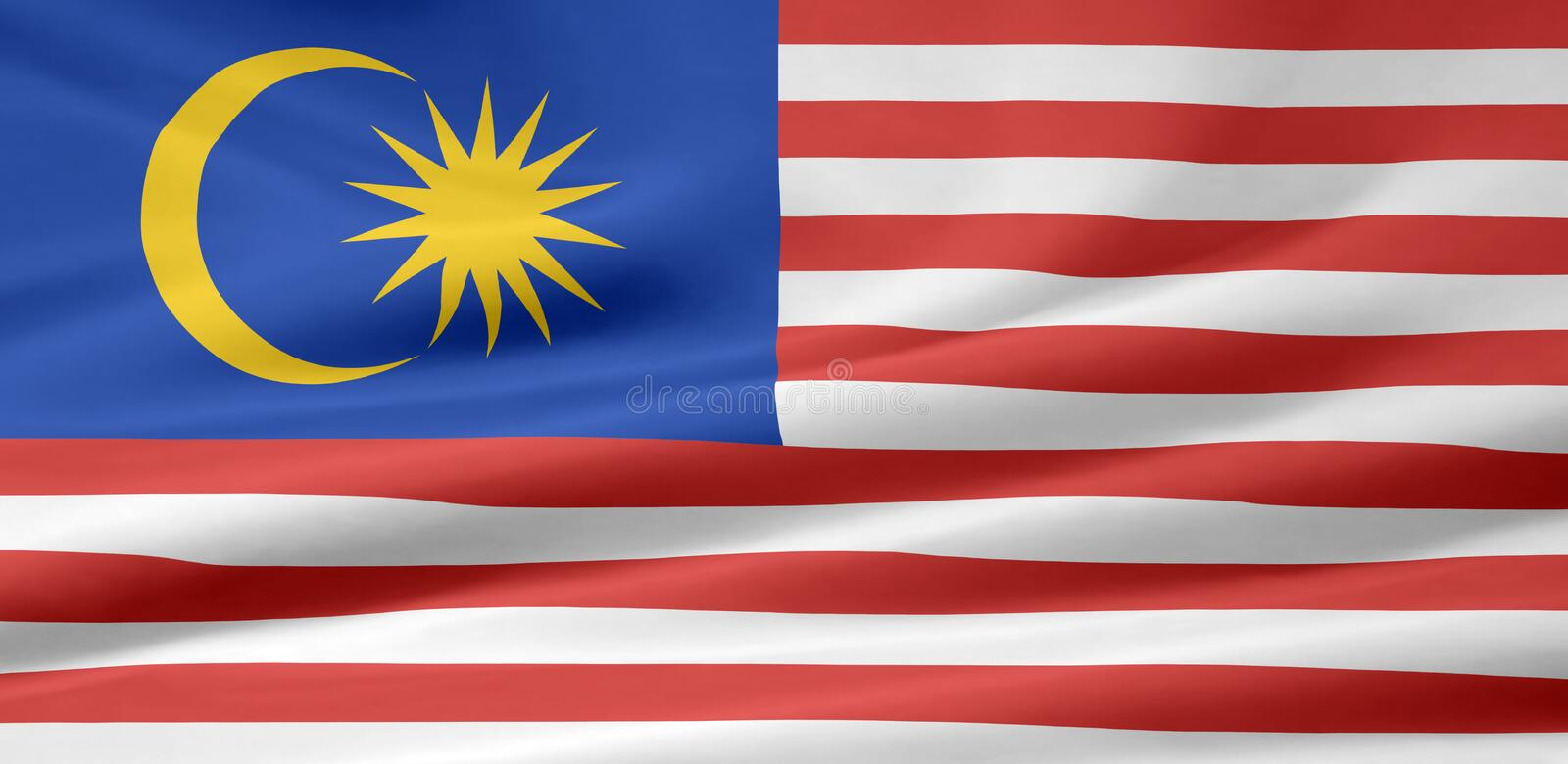 Flag of Malaysia stock images