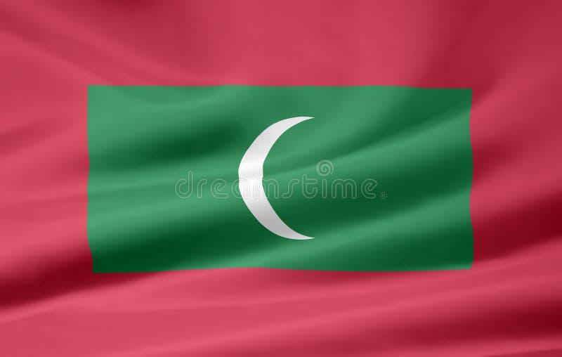Flag of the Maldives stock image