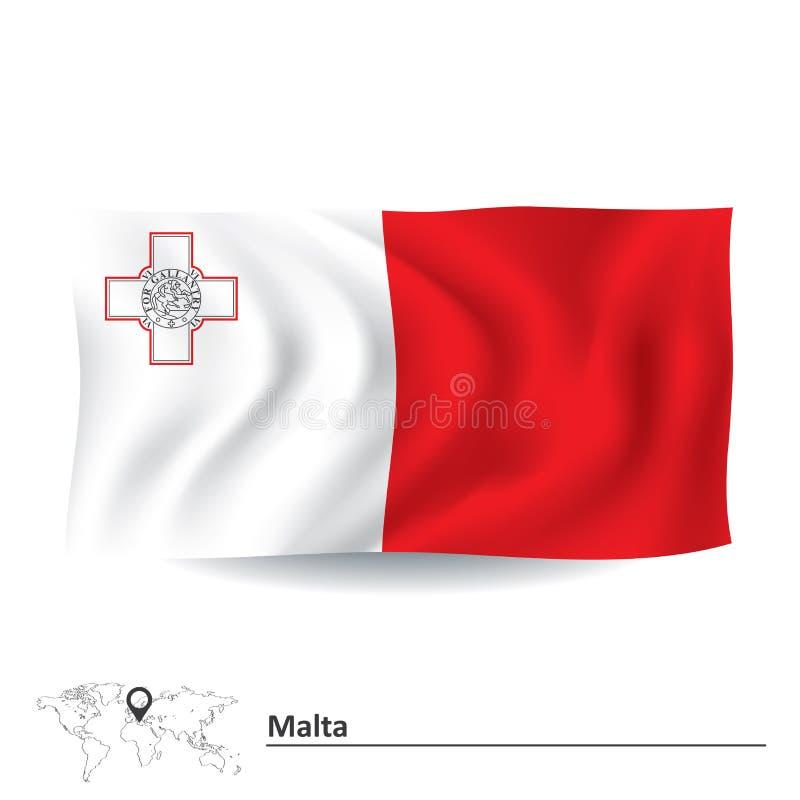 flag malta иллюстрация вектора