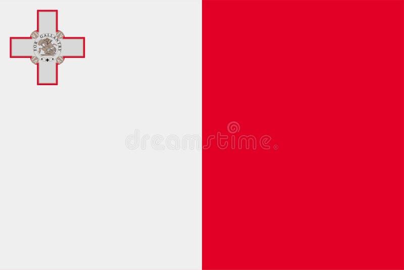 Flag of Malta . Sovereign state flag of Malta vector illustration