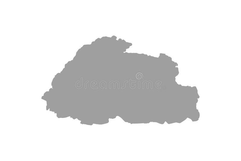 Flag map of Bhutan royalty free illustration