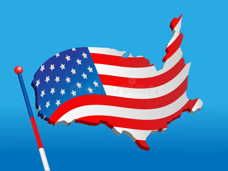 Download Flag from a map USA stock vector. Image of geography - 15320752