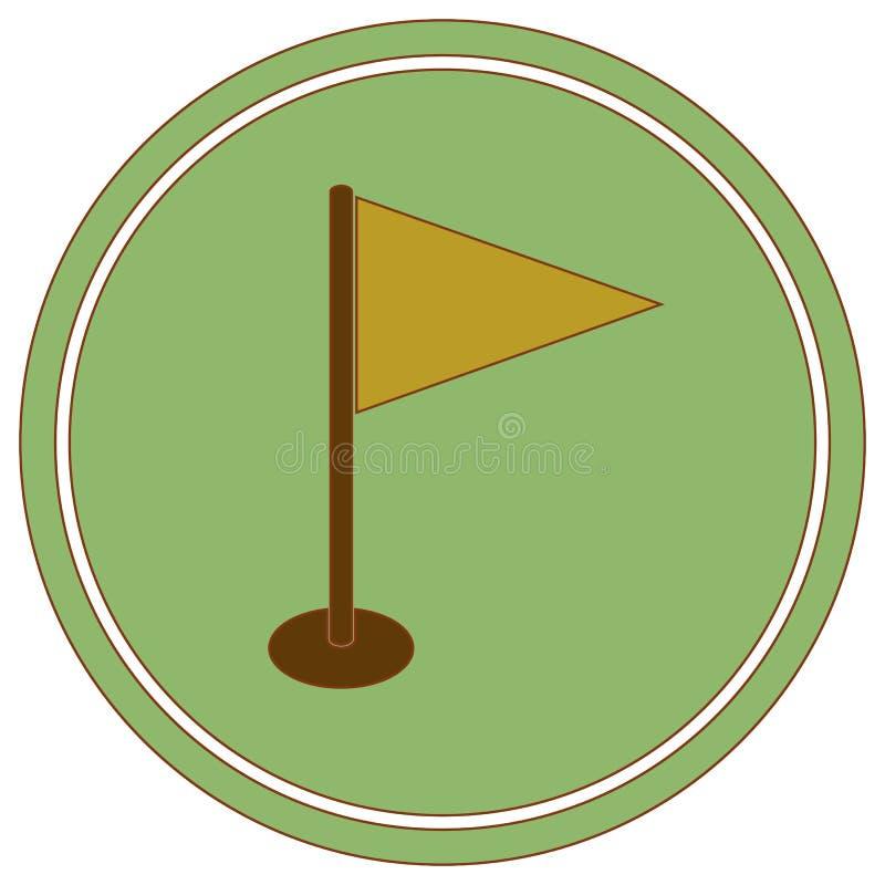 Flag marker icon. Location marker symbol royalty free illustration