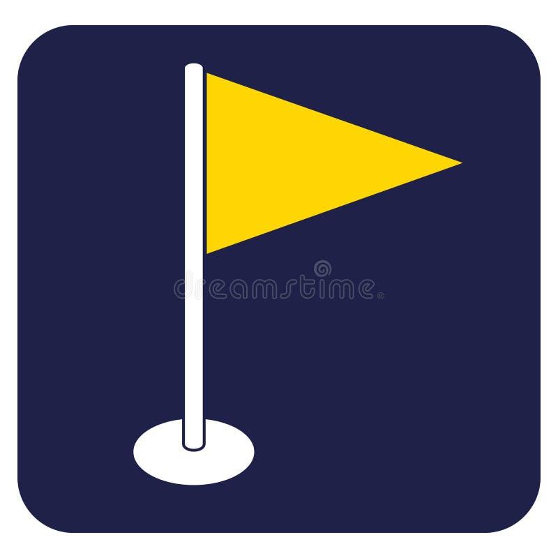 Flag marker icon. Location marker symbol vector illustration