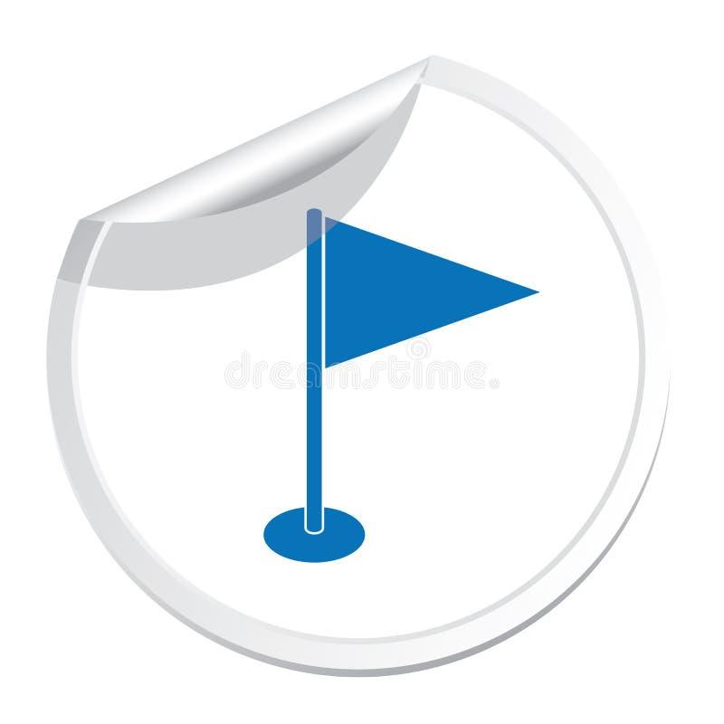Flag marker icon. Location marker symbol stock illustration