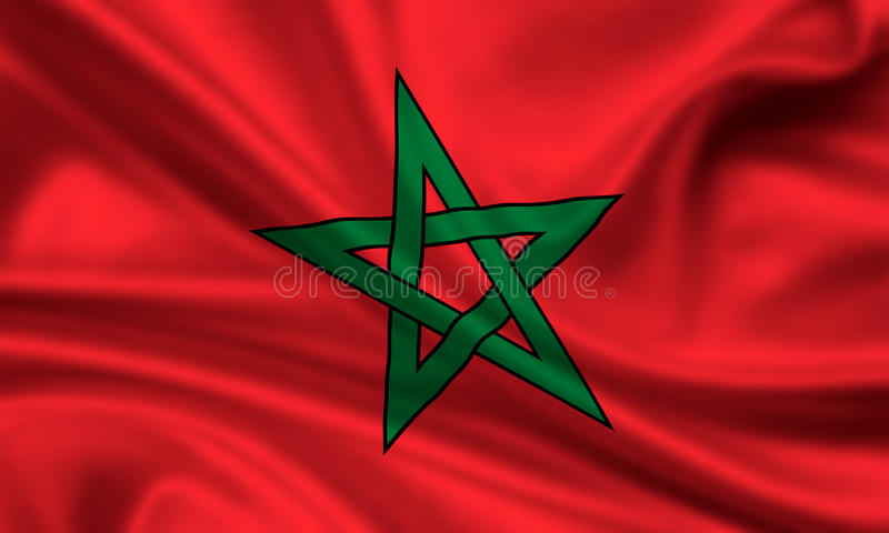 Download Flag of Marocco stock image. Image of moving, ensign - 15423463