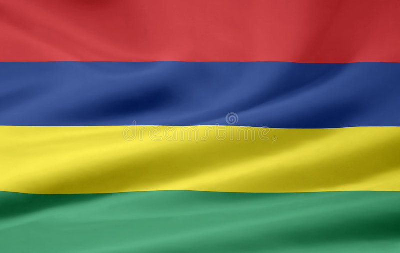 Flag of Mauritius royalty free stock photos