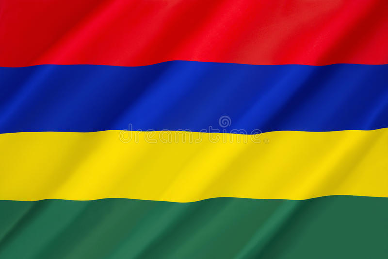 Flag of Mauritius stock photography