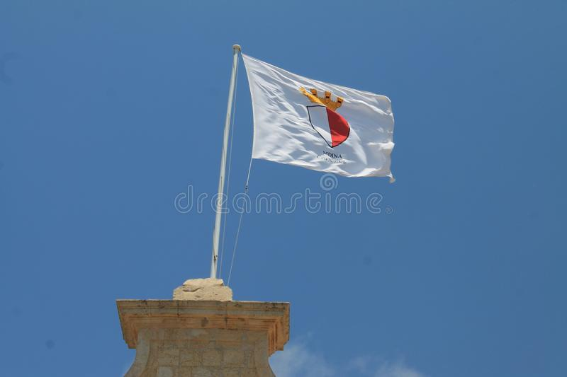 Flag of Mdina in Malta royalty free stock photos