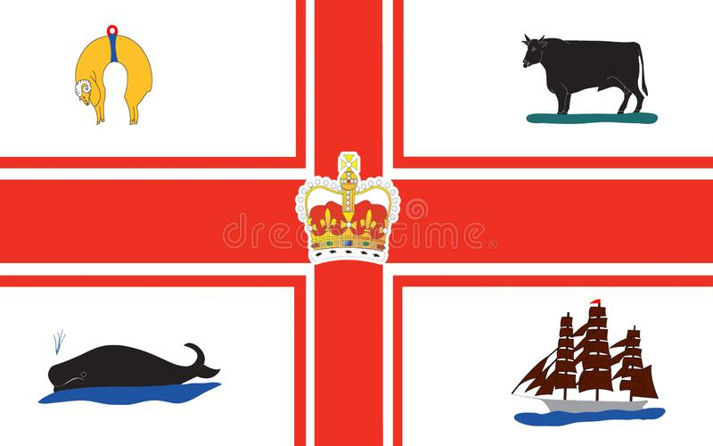 Flag of Melbourne is capital in Australian state of Victoria vector illustration